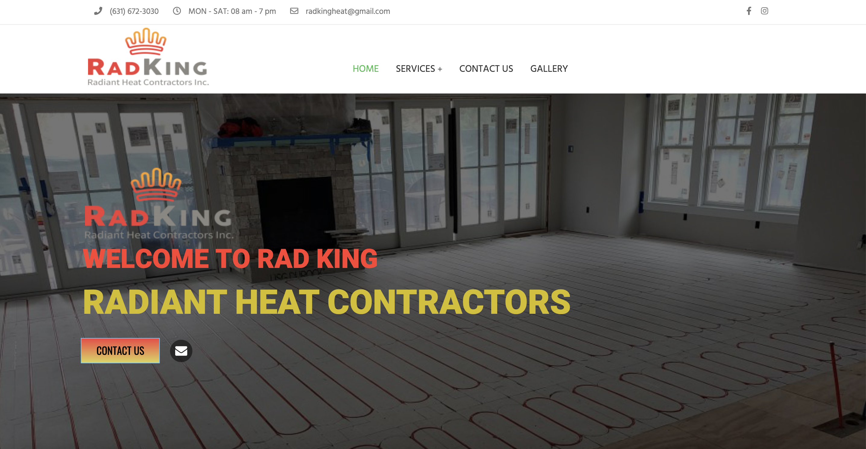Rad King Radiant Heat Contractors Announce The Launch Of Their New Website